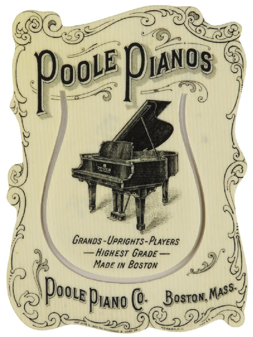Poole Pianos Celluloid Book Mark