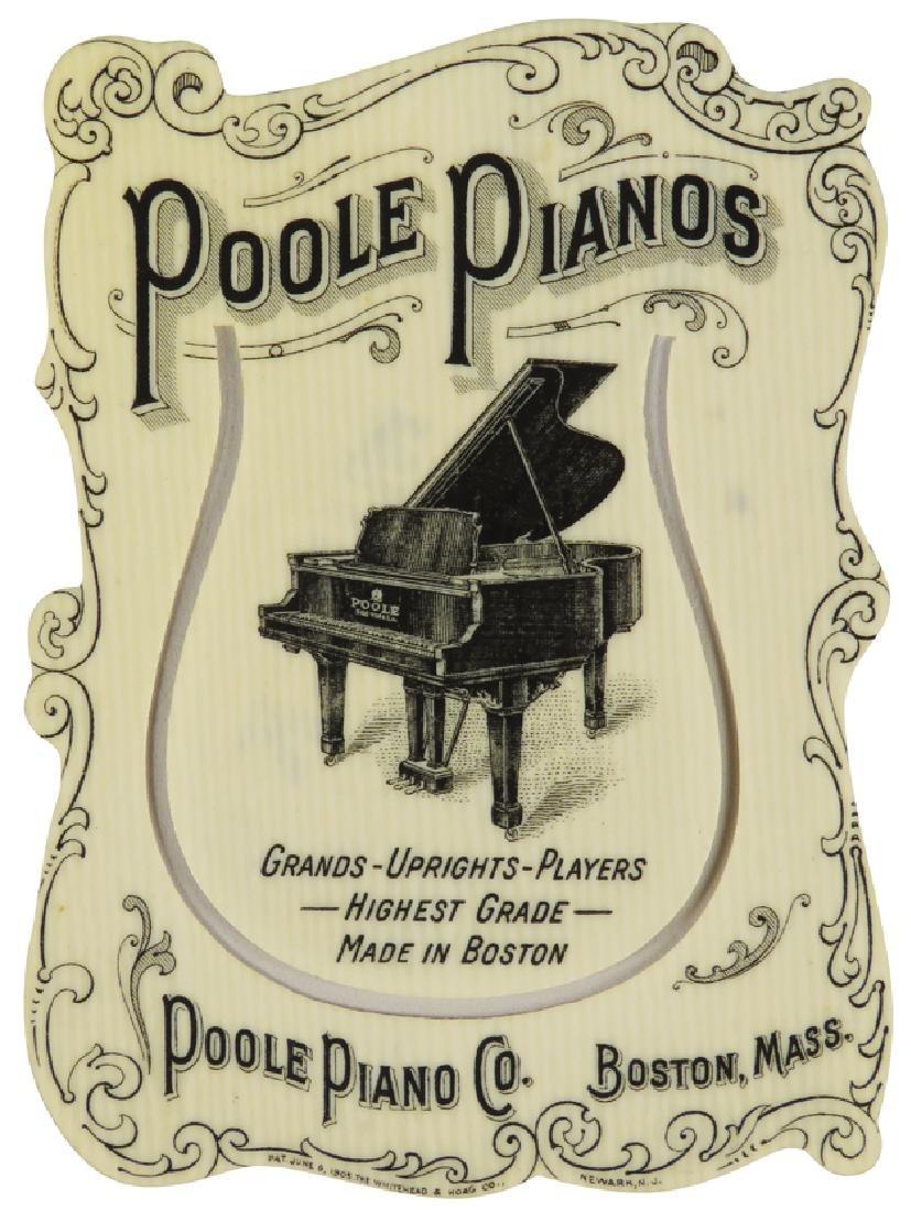 Poole Pianos Celluloid Book Mark