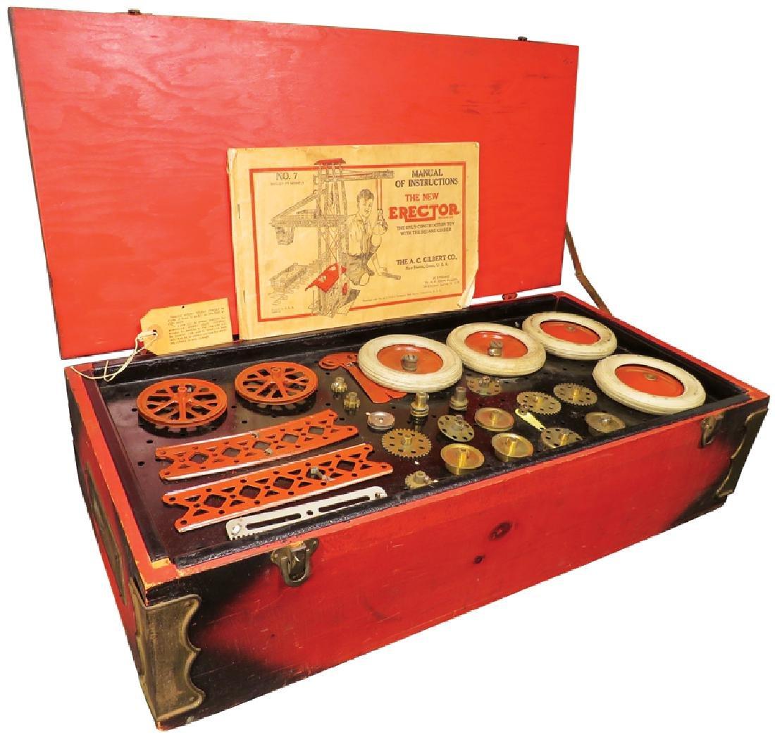 Vintage Toy A.C. Gilbert #7 Model Erector Set