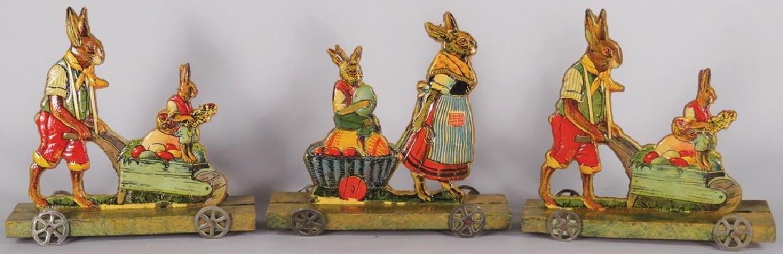 Embossed Cardboard Rabbit Pull Toys