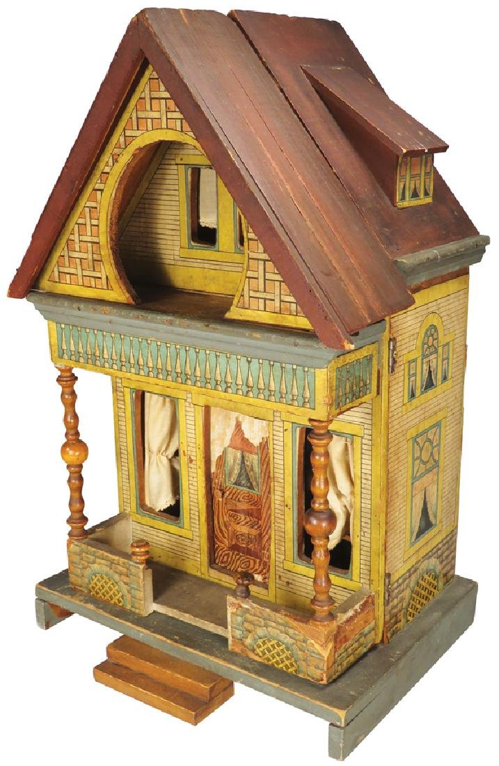 Very Early Antique Doll House