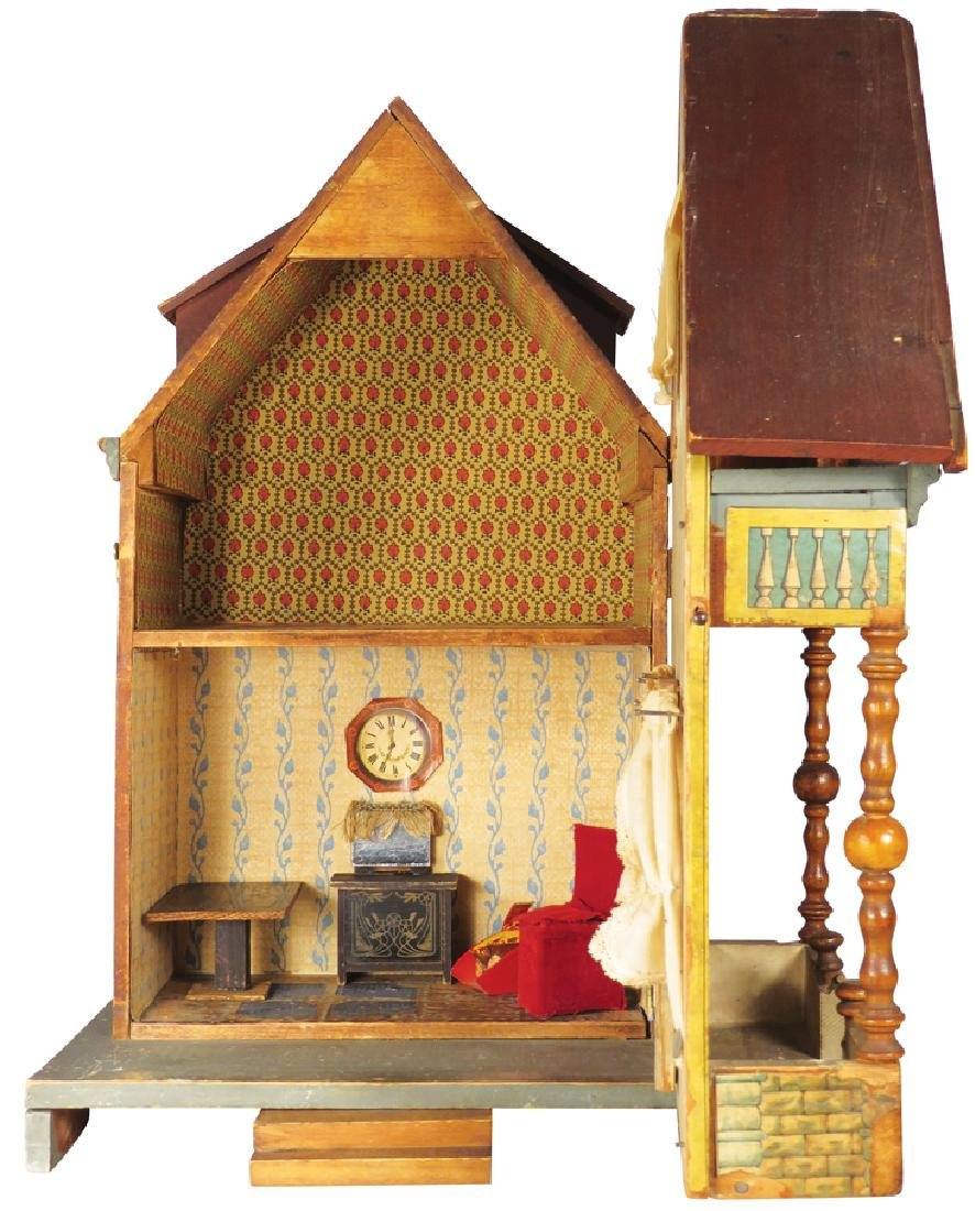 Very Early Antique Doll House - 2