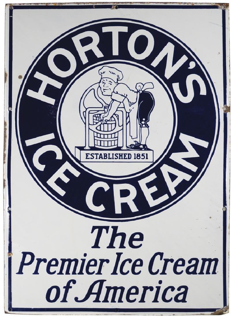 Horton's Ice Cream Porcelain Sign