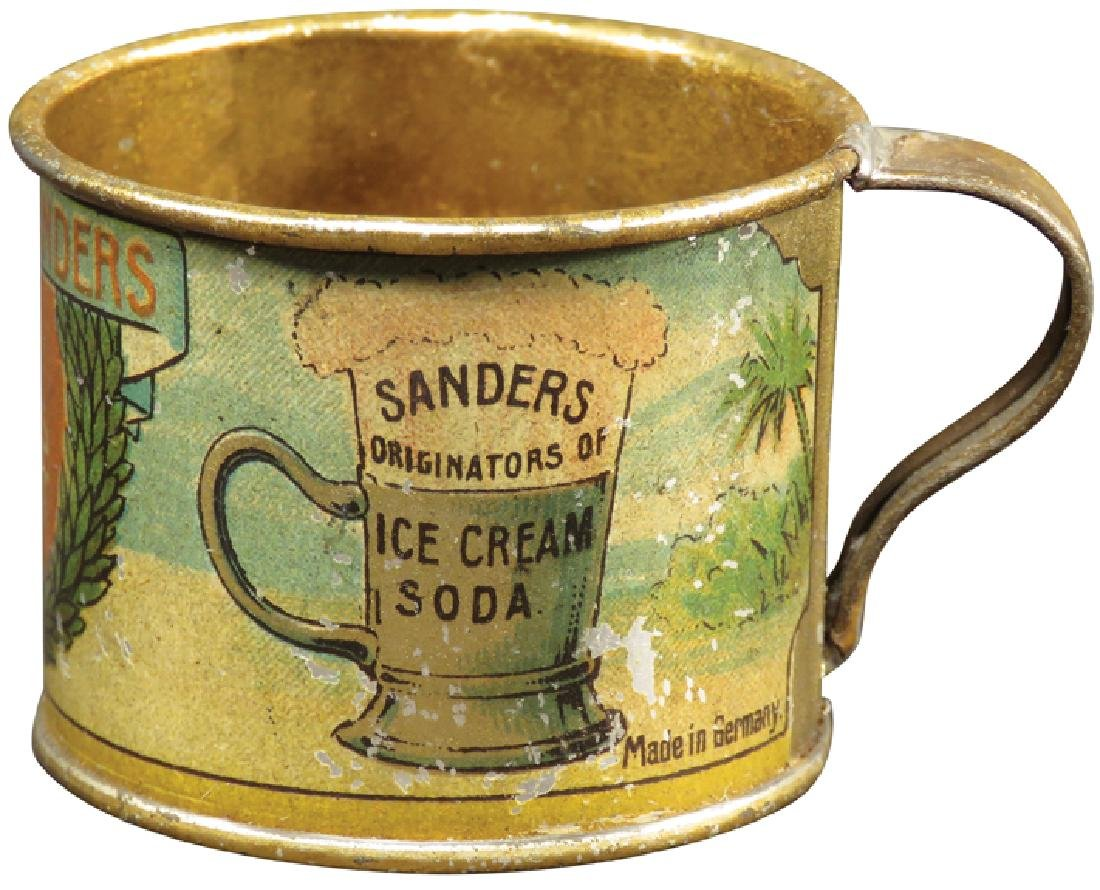Sanders Brass Litho Advertising Cup