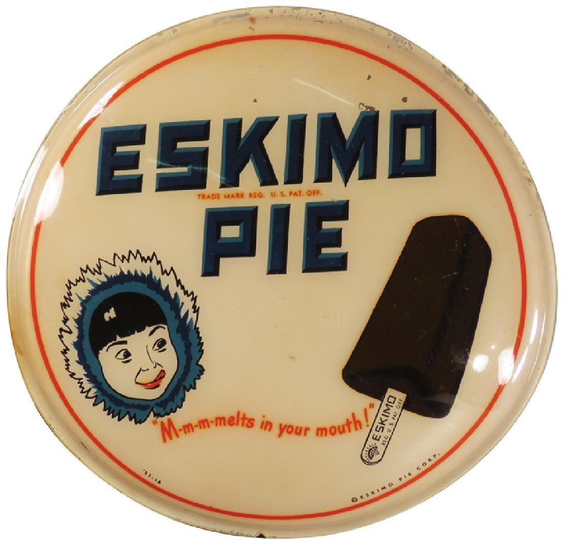 Eskimo Pie Celluloid Sign