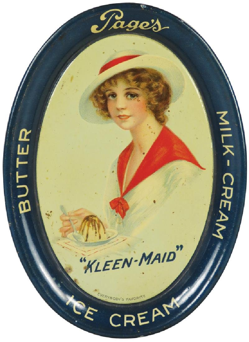 """Page's """"Kleen -Maid"""" Dairy Products Tip Tray"""