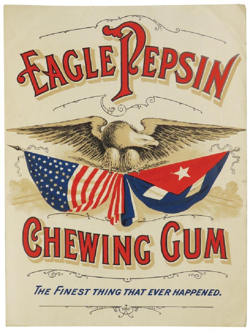 Eagle Pepsin Gum Paper Sign