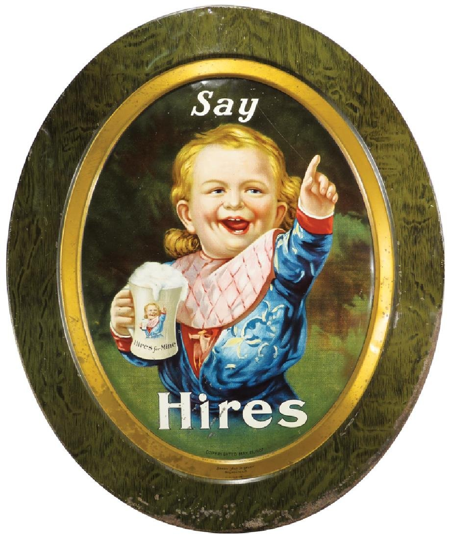 1907 Hires Boy Self Framed Tin Sign