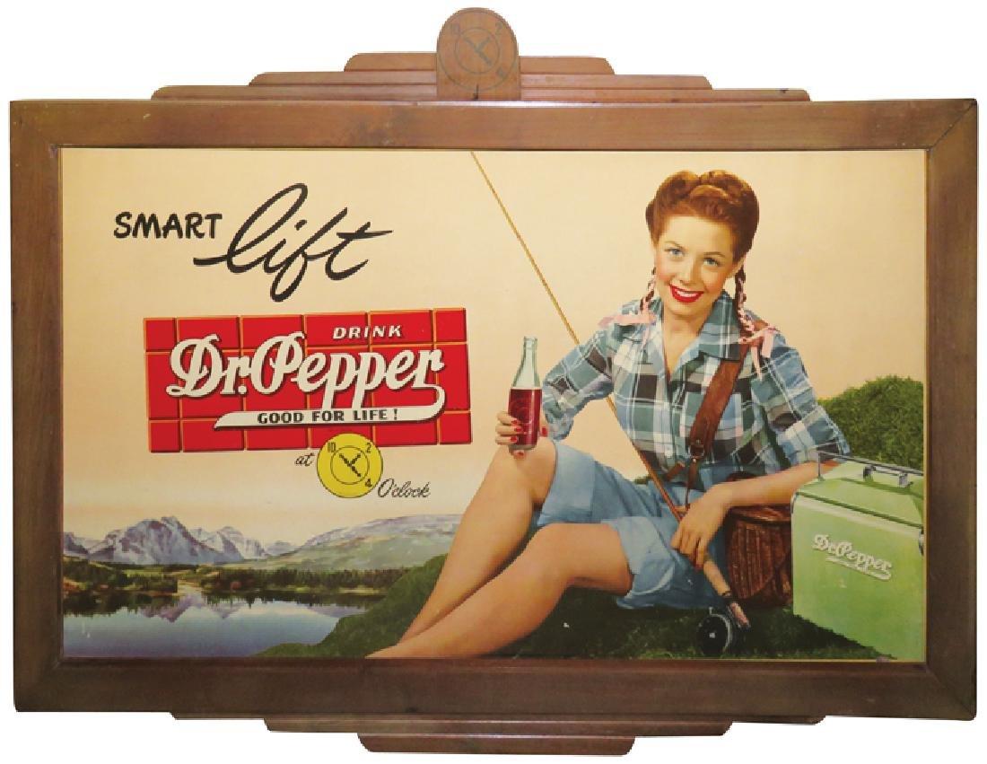 """Dr. Pepper """"Smart Lift"""" Cardboard Sign"""