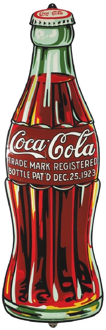 1932 Coca Cola Embossed Tin Die Cut Sign