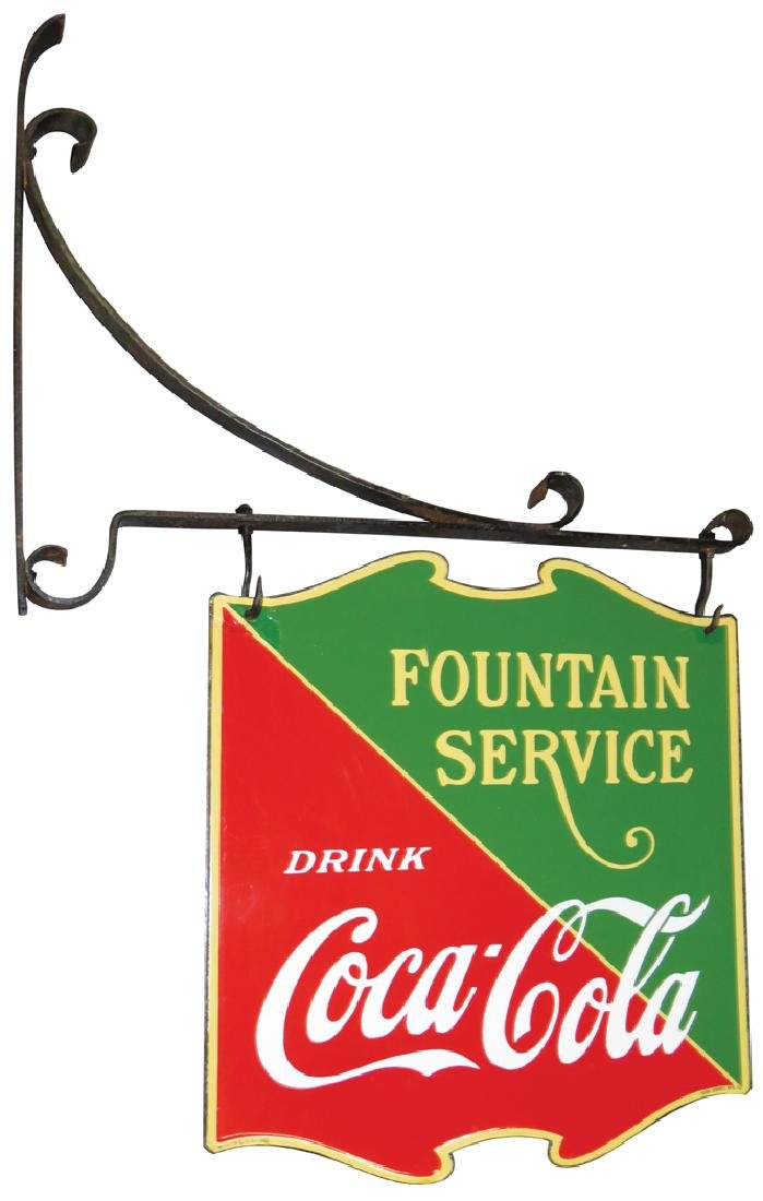 Coca Cola Fountain Service Porcelain Sign