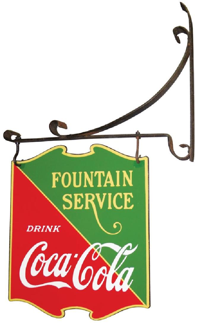 Coca Cola Fountain Service Porcelain Sign - 2