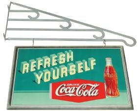 1935 Coca Cola Cardboard Sign