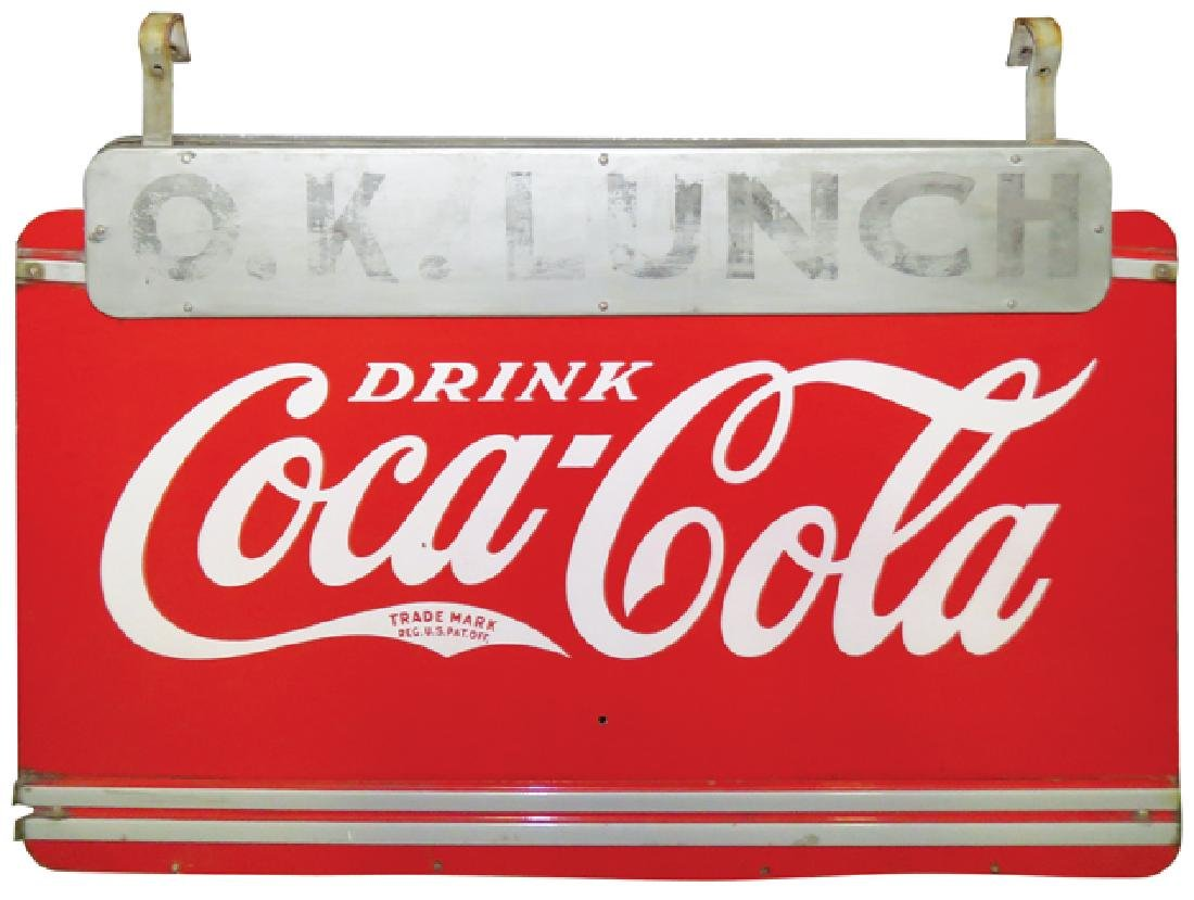 Large Outdoor O.K. Lunch Coca Cola Sign