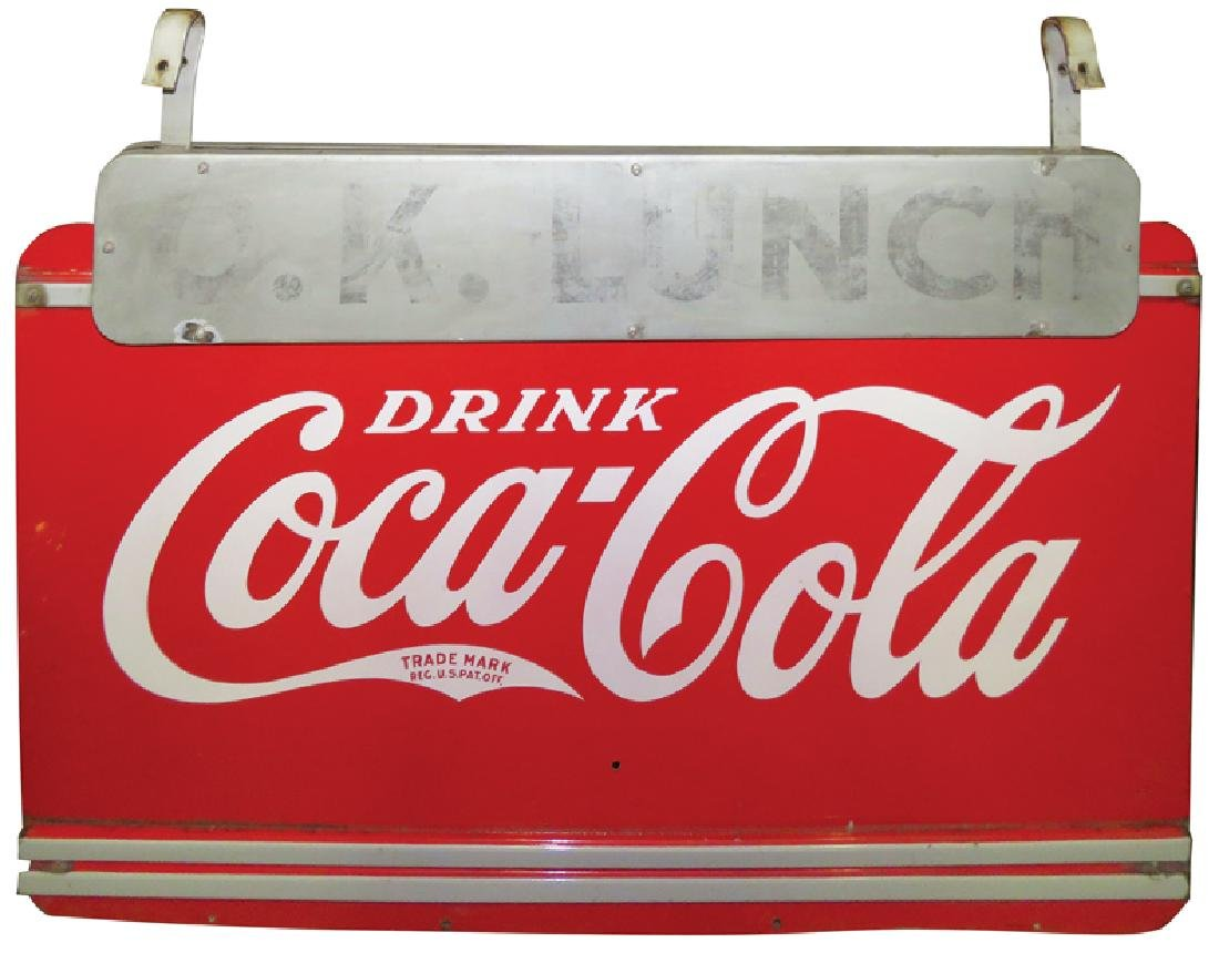 Large Outdoor O.K. Lunch Coca Cola Sign - 2