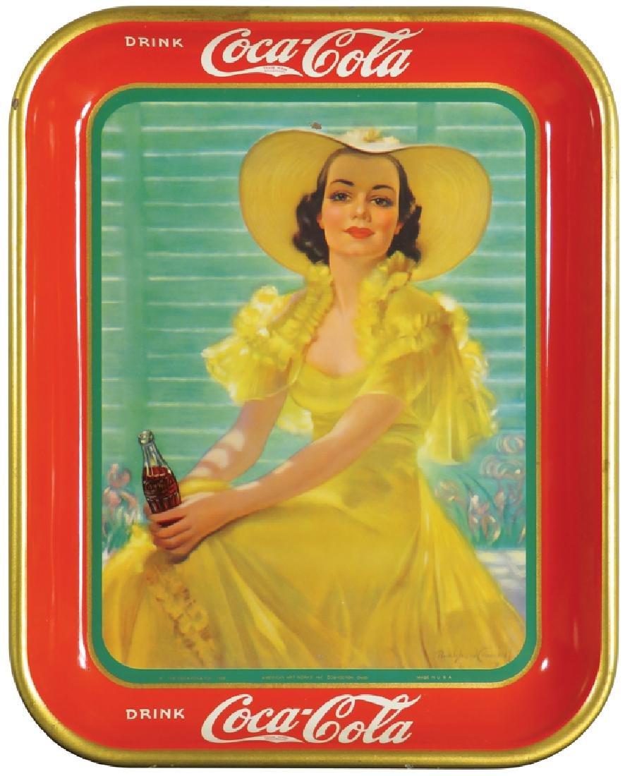 1938 Coca Cola Tin Serving Tray