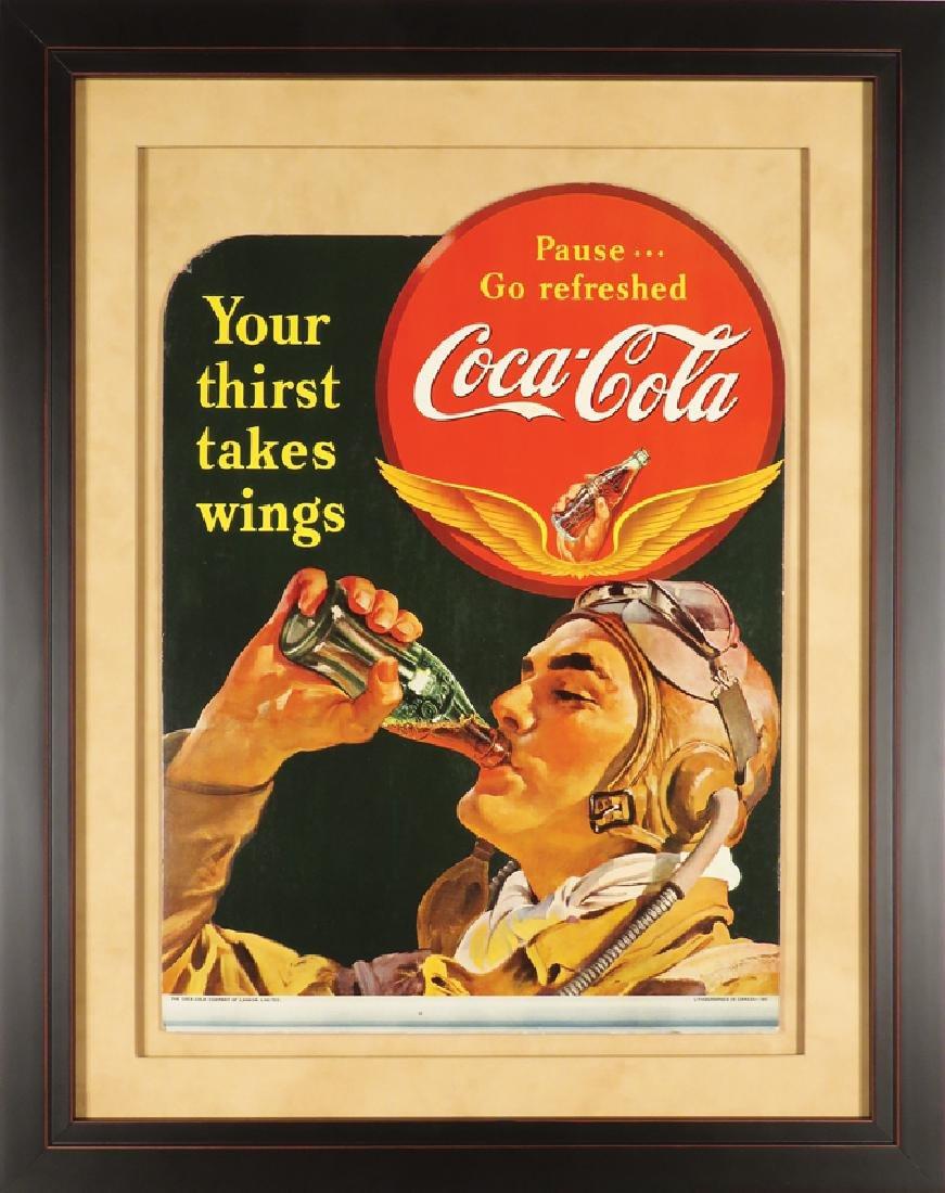 1941 Coca Cola Die Cut Cardboard Poster - 2