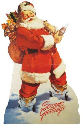 Coca Cola Cardboard Easel Back Santa Claus