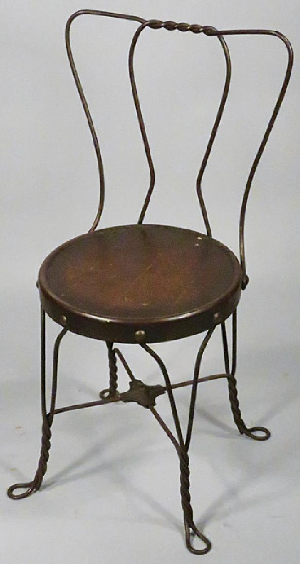 Medium size Chicago Wire Soda Fountain Chair