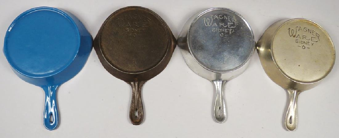 Four Wagner Ware Toy Fry Pans