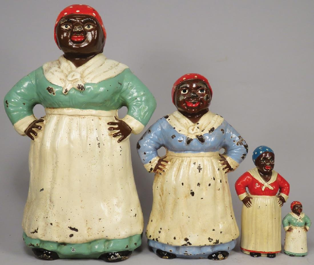 Collection of Aunt Jemima Cast Iron Figures