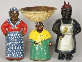 Collection of Cast Iron Black American Figures