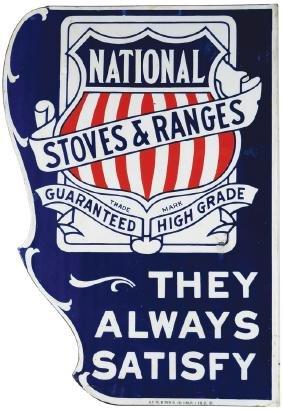 National Stoves and Ranges Porcelain Sign
