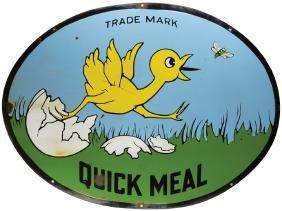 Quick Meal Stoves Porcelain Sign