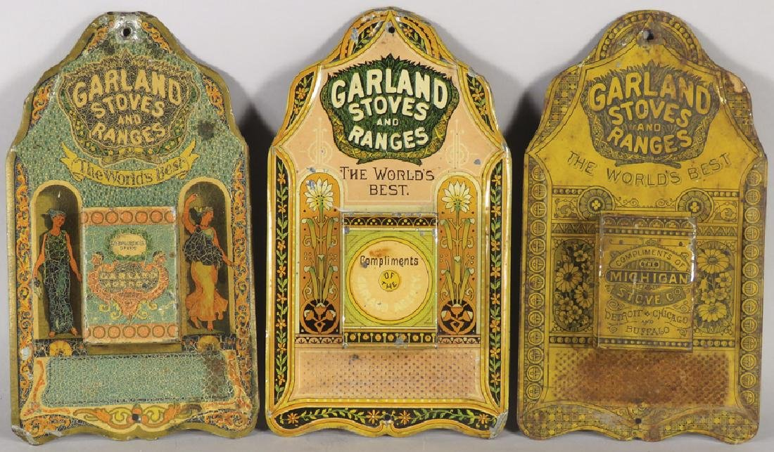 Collection of 3 Garland Stoves Match Holders