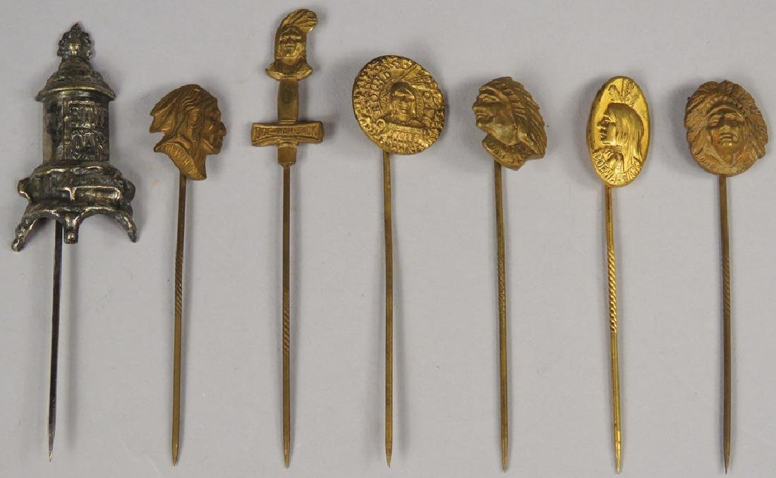 Collection of Round Oak Stoves Stick Pins