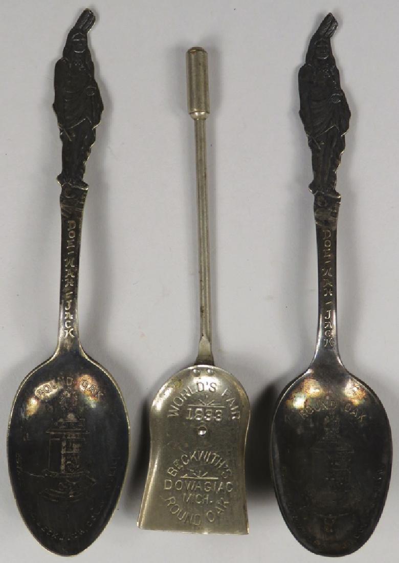 Round Oak Stove Souvenir Spoons
