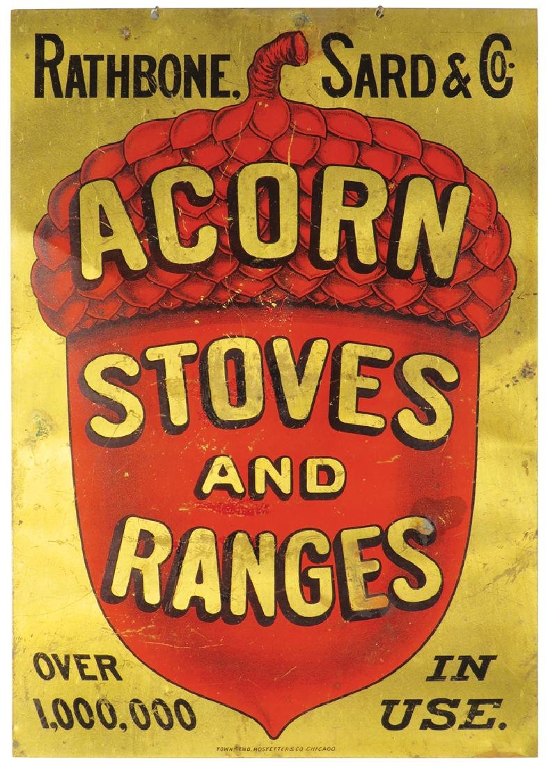 Acorn Stoves and Ranges Chain Hanging Sign