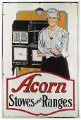 Acorn Stoves and Ranges Porcelain Sign