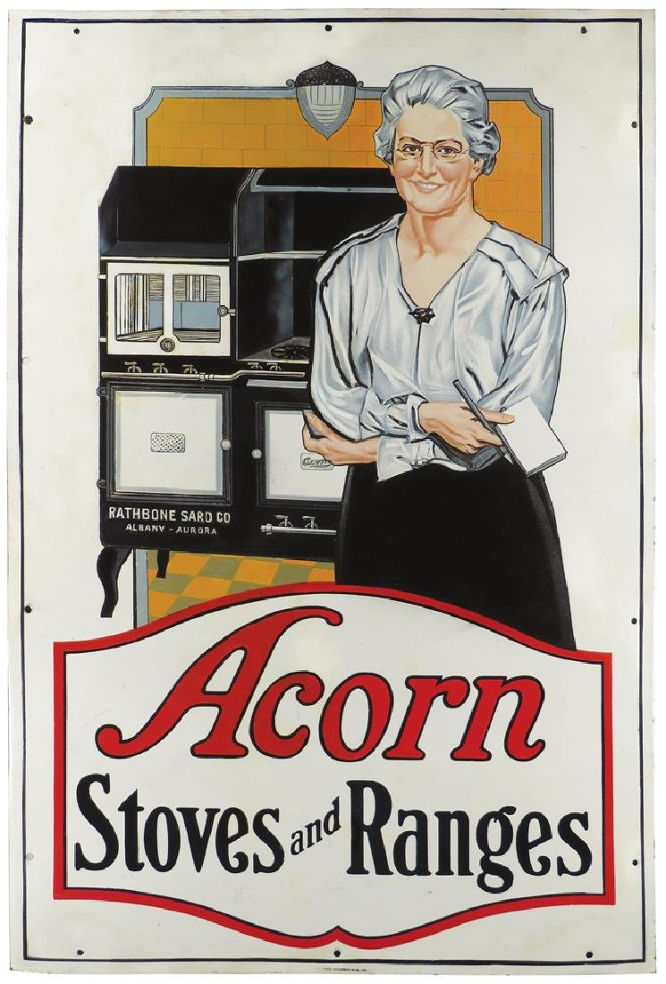 Acorn Stoves and Ranges Porcelain Sign