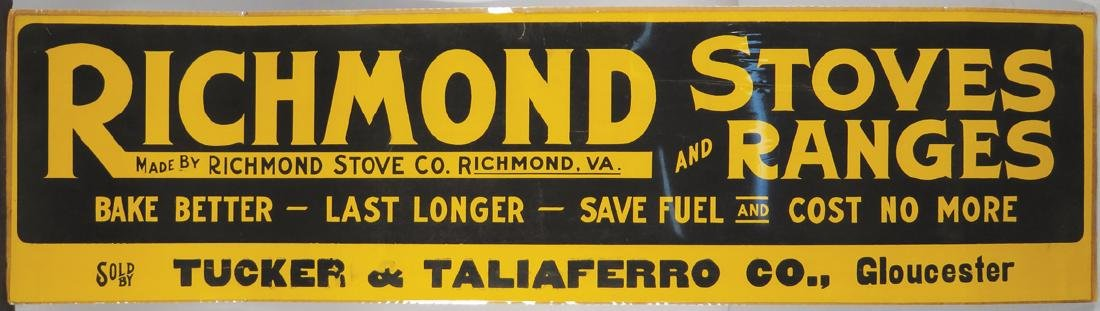 Richmond Stoves and Ranges Cardboard Sign