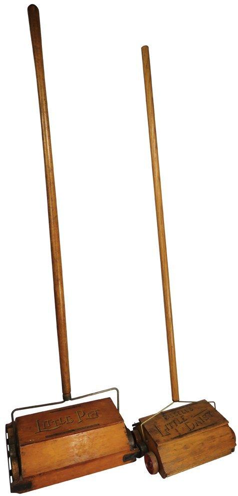 Two Early Salesman Sample Floor Sweepers