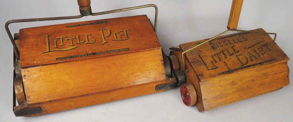 Two Early Salesman Sample Floor Sweepers - 2