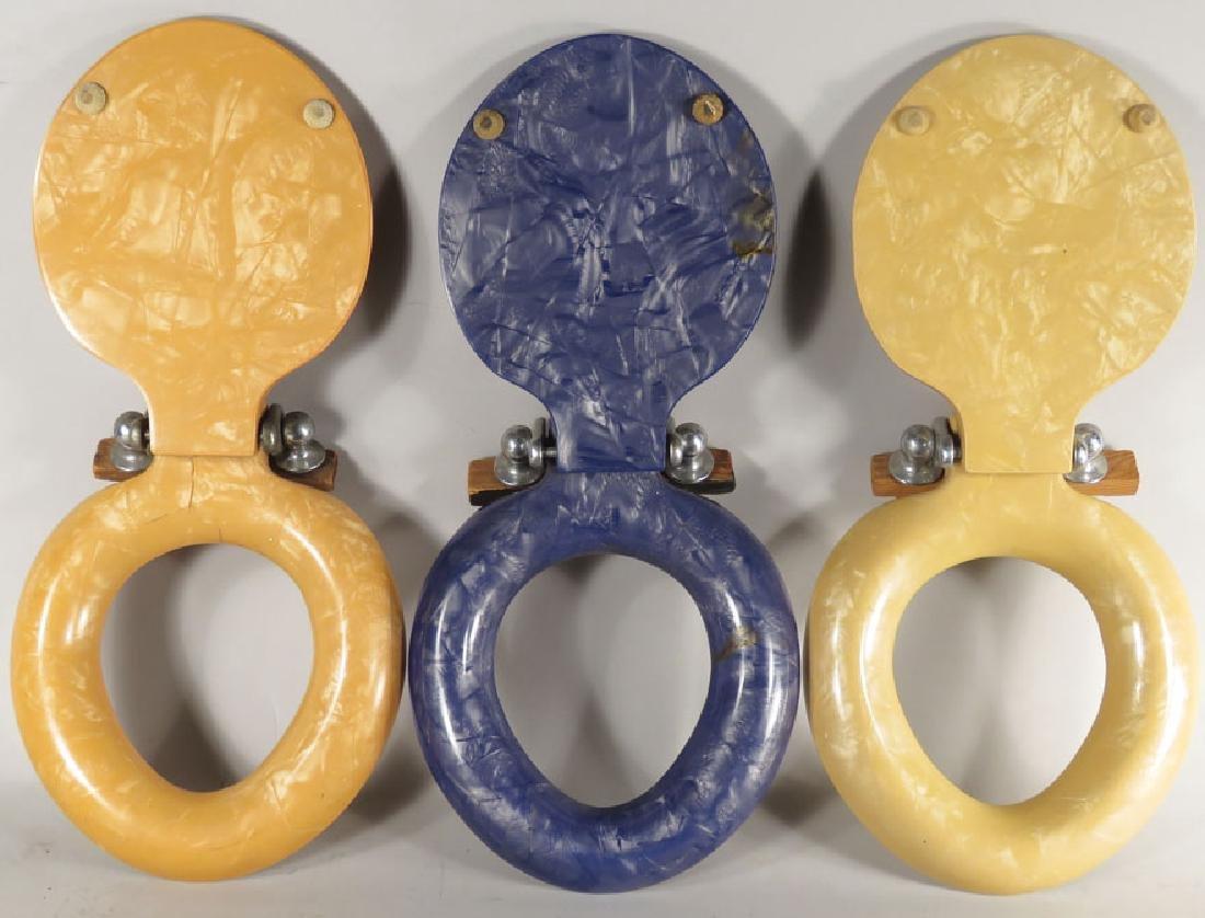 Three Salesman's Sample Plastic Toilet Seats - 2