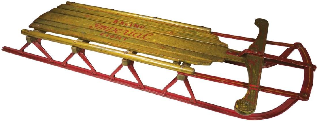 Rare Racing Imperial 8 Childs Snow Display Sled