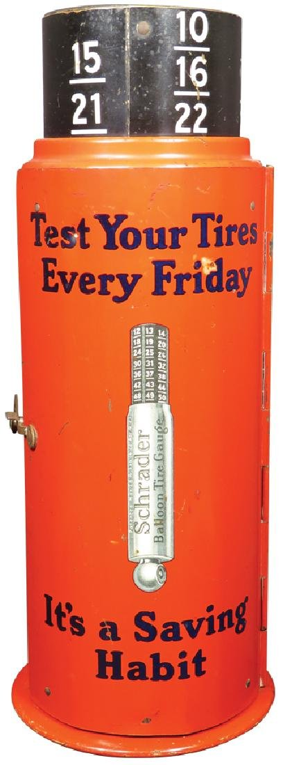 Schrader Tire Gauge Tin Store Display - 4