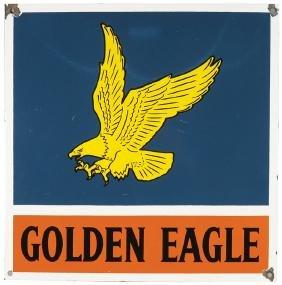 Golden Eagle Gasoline Porcelain Sign