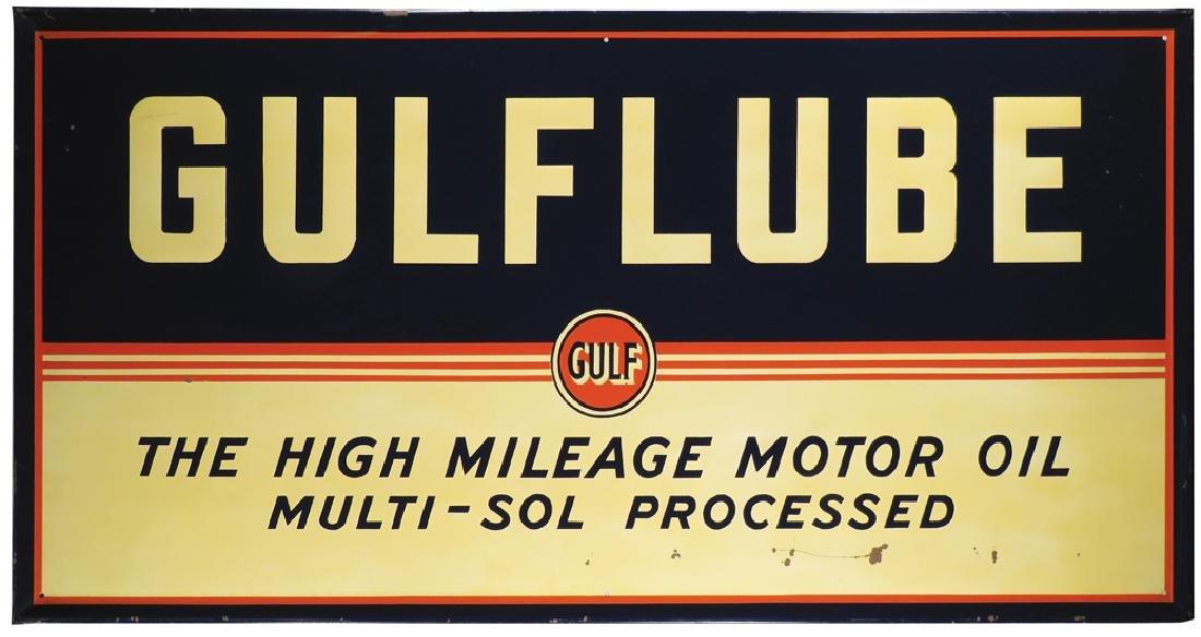 Gulflube Embossed Self Framed Tin Sign