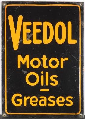 Veedol Motor Oils Greases Porcelain Sign