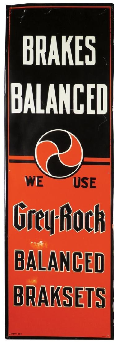 Grey-Rock Balanced Brakes Tin Sign