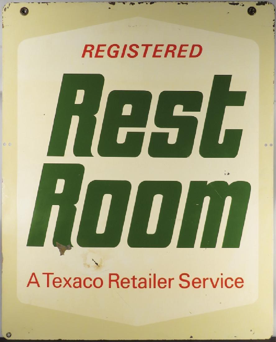 Texaco Restroom Steel Outdoor Sign