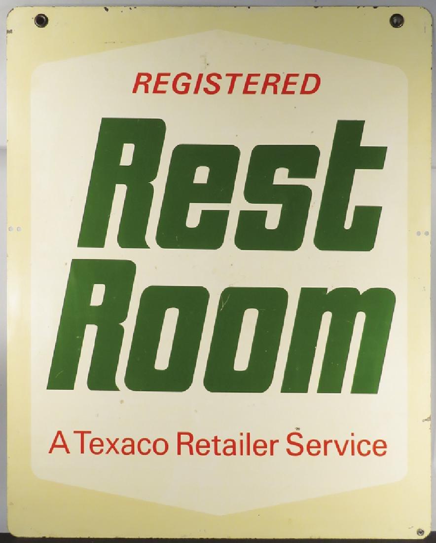Texaco Restroom Steel Outdoor Sign - 2