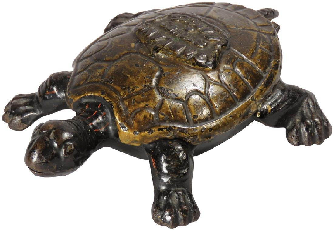 Cast Iron Turtle Advertising Match Holder