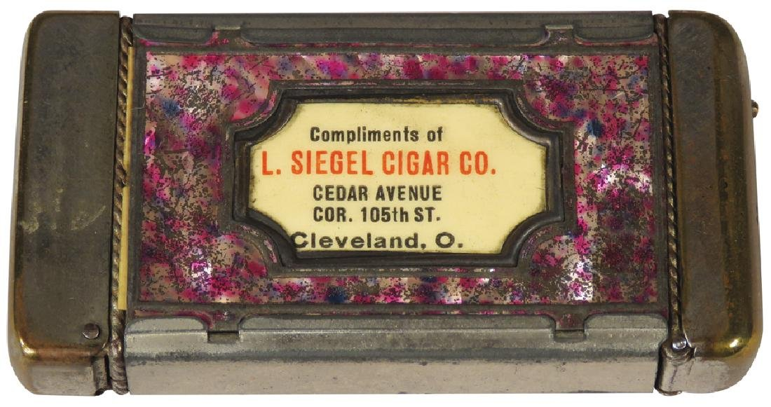 L. Siegel Cigar Co. Nickel Plated Match Safe - 2