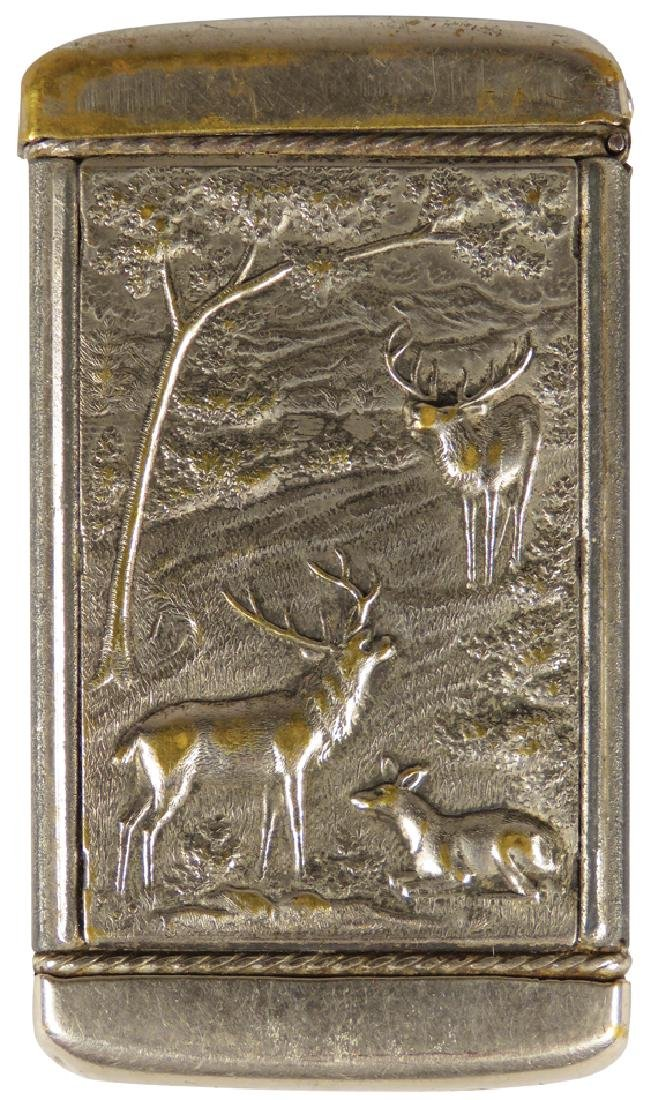 High Relief Match Safe, Elk