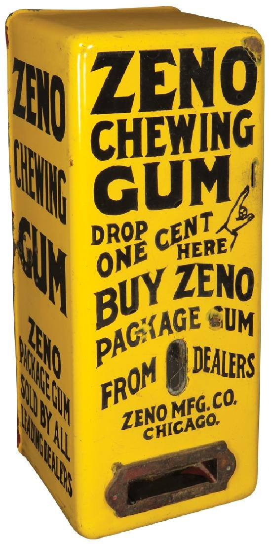 Zeno Chewing Gum Yellow Porcelain Dispenser
